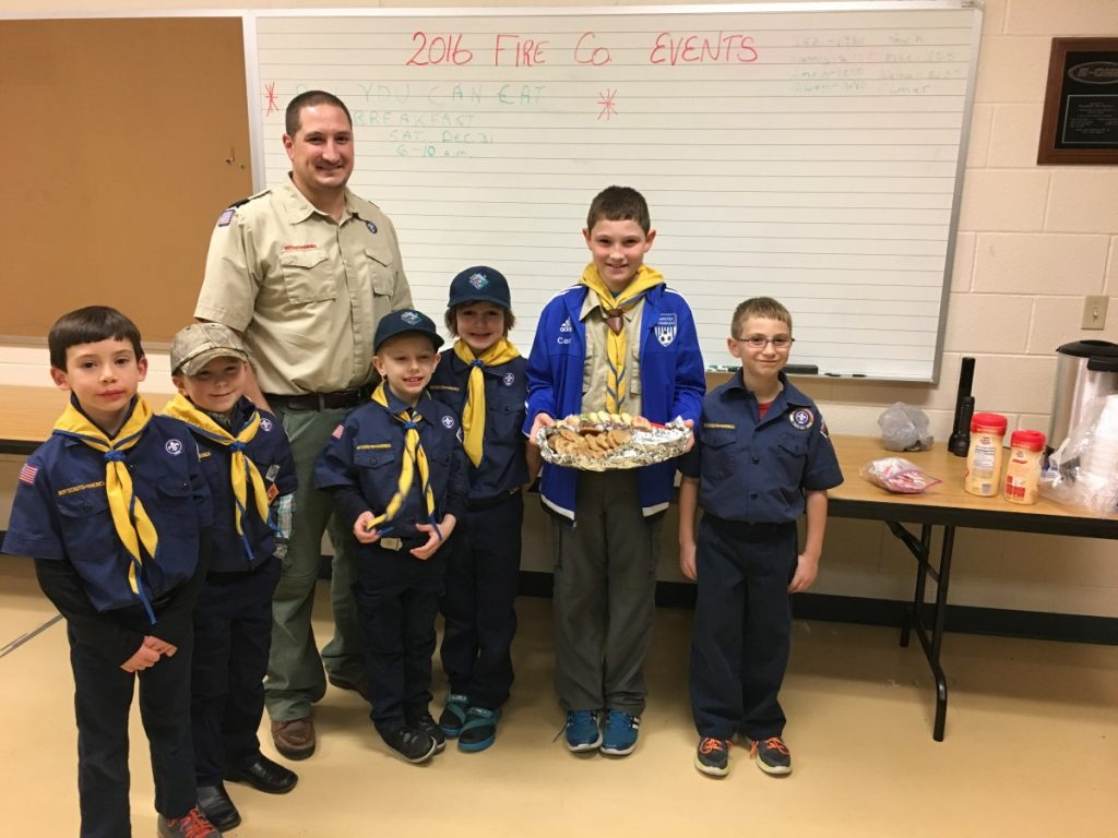 Cub Scouts Treat the Firefighters