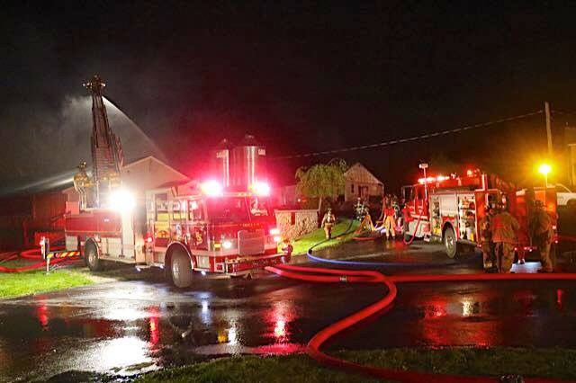 Barn Fire – Strasburg Twp
